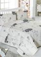 Eponj Home Çift Kişilik Yatak Örtüsü Seti Bej